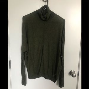 Very thin forest green turtleneck